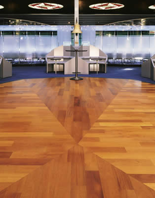 Another one of our custom wood floor installations.